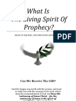 What is the Living Spirit of Prophecy by Trent R. Wilde