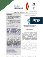 Boletín Communis Opinio - Año 1, No. 16, Abril 2009.