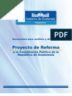 Proyecto de Reformas a la Constitución de Guatemala, Otto Pérez
