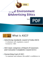Legal Environment Advertising Ethics Final