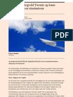 Toekomst Vliegveld Twente Op Losse Schroeven Door Staatssteun - Het Financieele Dagblad