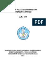 Panduan Penelitian Dikti 2012 Edisi VIII