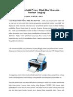 Cara Memperbaiki Printer Tidak Bisa Mencetak