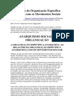 As Relações da Organização Específica Anarquista com os Movimentos Sociais