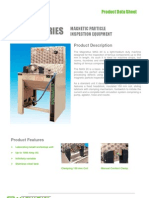 MAG 20 Series Magnetic Particle Inspection Equipment Product Data Sheet - English