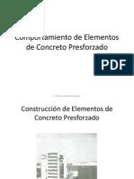 Comportamiento de Elementos de Concreto Presforzado
