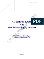 Gas Sweetening Process