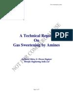 Gas Sweetening Process