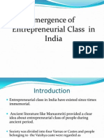 Emergence of Entrepreneurial Enterprise in India.