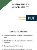 Design Principles for Manufacturability