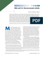Oil Price Volatility and U.S. Macroeconomic Activity