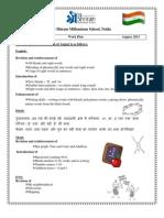 Class I- Work Plan