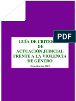 Guía criterios actuacion violencia genero actualización 2013
