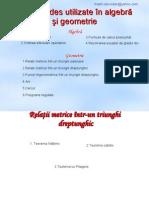 Formule des utilizate în algebră constantin danut