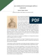 Aparisi y Guijarro Antonio - [1872] Esbozo de una constitución de la monarquía católica y tradicional