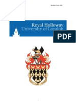 Royal Holloway University of Landon Project