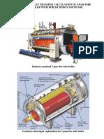 Heat Transfer in Fire Tube Boiler software sumulation