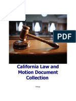 Sample California Law and Motion Document Collection