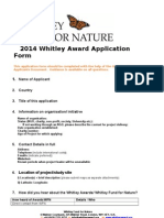 2014 Whitley Award Application Form FINAL