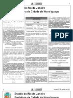 diario oficial de nova iguaçu de 17 de agosto de 2013.