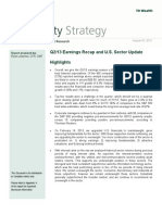 U.S. Equity Strategy (Q213 Earnings Recap and U.S. Sector Update) - August 16 2013