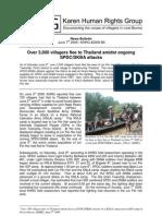 Over 3000 fleeing joint SPDC/DKBA attacks