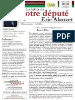 La Lettre de votre député Eric Alauzet - Edition spéciale Août 2013