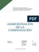 Trabajo de Admnistración de la Compensación