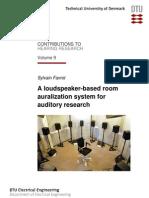 Loudspeaker Based Auralization System