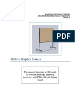 Mobile Display Stand Drawings