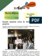Senado mantém vetos de Dilma a quatro projetos