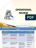 Operational Review
