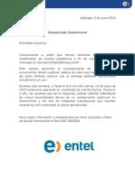 Comunicado Comercionet_Junio 2013