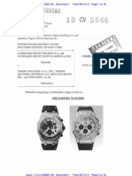 Audemars Piguet v. Tommy Hilfiger - Complaint