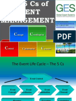 The 5Cs of Event Management