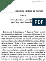 OEuvres de Monseigneur l Eveque de Poitiers