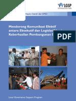 Mendorong Komunikasi Efektif Antara Eksekutif Dan Legislatif Bagi Keberhasilan Pembangunan Daerah