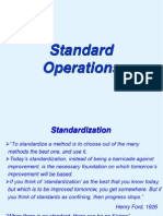 Standard Operations