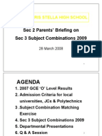 Sec 2 Subject Combi Briefing