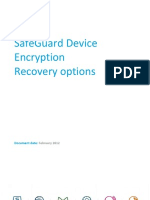 Recovery in SafeGuard Device Encryption   Databases   Password