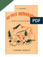 Langue Française Garnet. L 02a CE1-CE2 (1 Original) Au Pays Merveilleux 1953