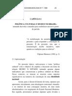 Cadernos de sociomuseologia - política cultural e museus no brasil