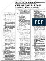 RBI Officer Grade B Exam 06.02.2011 Solved Paper