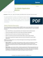 Magic Quadrant for Mobile Application Development Platforms