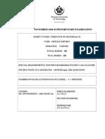 Re Exam Paper Nov08,Smt211t