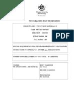 Main Exam Paper Nov08,Smt211t