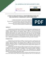 A Study on Organisational Citizenship Behaviour and Organisational Commitmen