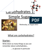 carbohydrates 1 simple sugars