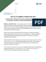 LTE Market Pre-Announcement Peoria 8 21 13