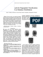 A New Approach for Fingerprint Classification Based on Minutiae Distribution